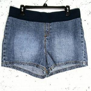 Motherhood Maternity Large Jean Stretchy Shorts